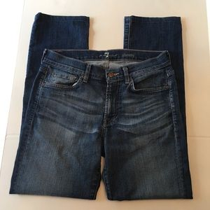 7 For All Mankind SLIMMY Blue Distressed Jeans, 31